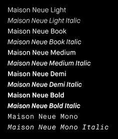 Maison Neue | Typographica #font #typeface #typography