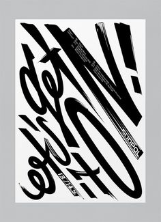 bureaunoirceur:Typography(Let's get it on! by Suedpol, via typeverything) #print #typography