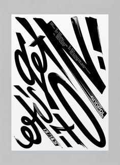bureaunoirceur:Typography(Let's get it on! by Suedpol, viatypeverything) #print #typography