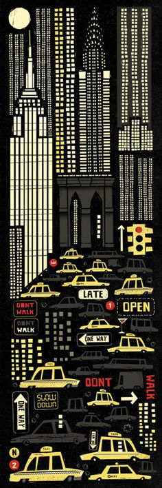 New York #york #illustration #cars #new