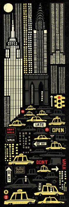 New York #york #illustration #cars #new
