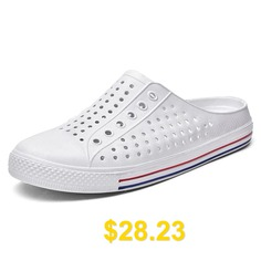 Men #Hollowed-out #Slip-on #Sandals #- #WHITE