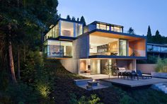 Gorgeous evening view of Russet Residence #architecture #house #modern