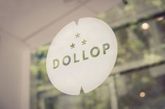 Dollop Coffee & Tea #window #logo #signage