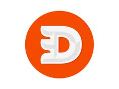 D #logo #orange #lettermark #typography