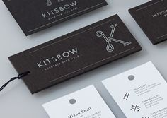 Kitsbow— #white #branding #stationery #black #monogram #letter #identity #manual #and #k