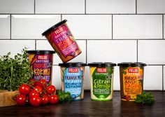Felix Soups and Sauces The Dieline #packaging