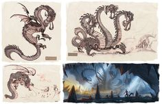 Paul Sullivan Concept Art #dragon #fantasy #animation #design #illustration #concept #art #painting