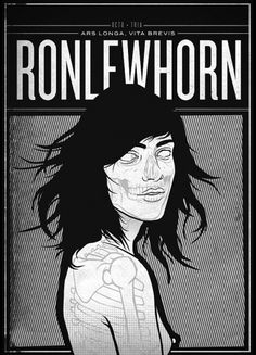 RONLEWHORN #grunge #girl #print #illustration #portrait #poster #art #naked