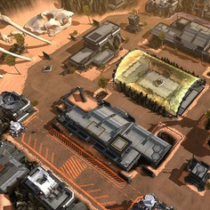 Titanfall Assault Environment Art - Boneyard Desert Level