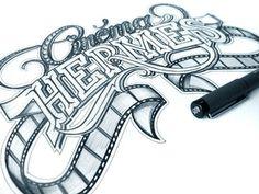 Dribbble - Cinéma Hermés by Martin Schmetzer #logotype #drawn #beautiful #hand #typography