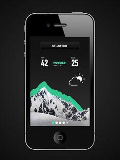 Frends Snow app on Behance #information #weather #ski #snow #app #mountains