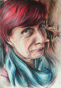 Nikos Gyftakis | PICDIT #design #portrait #painting #art #face