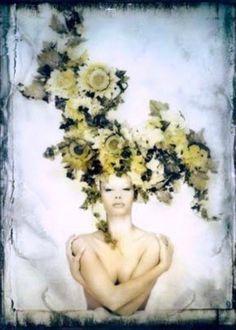 Poe's Mistress #woman #photo #hiroshi #nonami #flowers