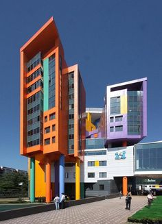 Pediatric center in Moscow with colorful exterior #bright #architecture #art #exterior #buildings