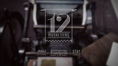 12 Musketeers 2013 Letterpress Calendar #banner #branding #ohio #12 #2013 #calendar #design #letterpress #video #placeholder #logo #musketeers
