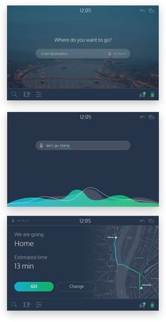 The UX of Fully Autonomous Cars on Behance