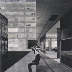 Guilliermo Delagado Castaneda, A strategic plan for Rome, Via Casalina, Perspective, 2010 #collage #architecture
