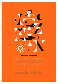 Alan Rodriguez: ITZMIN / on Design Work Life #poster #halloween #orange #black #lettering #typography #skull