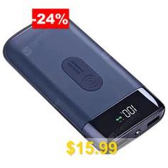 Wireless #Charging #Treasure #Mobile #Power #Bank #10000mAh #- #COBALT #BLUE