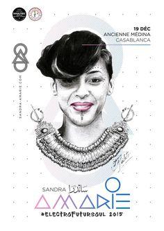 Affiche & identité par Fabrice Vrigny réalisées pour la performance artistique de Sandra Amarie dans l'ancienne médina de Casablanca ven #sandra #morocco #graphic #identity #minimal #poster #fabrice #yassine