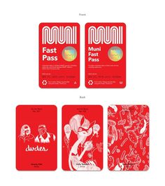 Muni Rebranding Concept Art & Design by D. Kim #bus #city #cards #identity