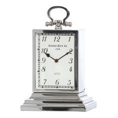 Nepean Silver Table Clock, 35 cm