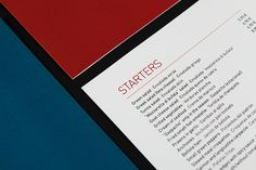 Restaurant menu · estudi oh! #print #restaurant