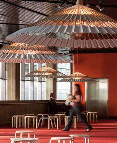 Light Fixture Made of Bamboo Umbrella