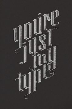Just My Type Poster - FPO: For Print Only #lettering #landry #print #jude #screen #poster #hand