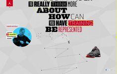 design work life » Academy: Jordan Brand Interactive Interview #design #web