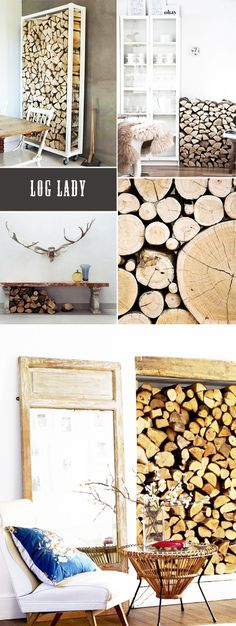 STACKING LOGS #interior #design #decor #deco #decoration