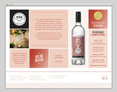 Volstead Vodka Website | Namesake #design #liquor #vodka #layout #web