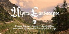 Alpine Landscape #calligraphy #font #typography
