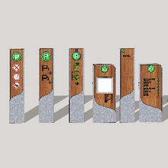 Wayfinding | Signage | Sign | Design | 小区公园导视牌标识牌