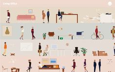 http://www.hermanmiller.com/content/dam/hermanmiller/microsites/neocon-2013/images/wallpaper-A-1280x800.png #illustration #icons