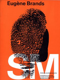 Eugène Brands poster designed by Wim Crouwel