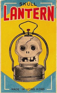 SKULL LANTERN #lantern #kong #packaging #vintage #hong #skull