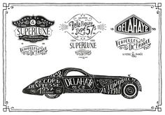 Delahaye project by bmd design on the Behance Network #type #lettering