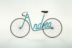 Write a Bike on the Behance Network #bicycle #bike #typography