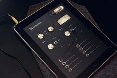 76 Synthesizer iPad App on the Behance Network #dial #ipad #interface #cord #app #knob