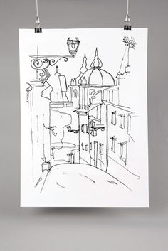 Drawing Madragoa. A popular neighborhood of Lisbon. #sketches #drawing