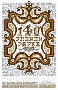 charles s. anderson design co. | 140th Anniversary Posters #csa #poster