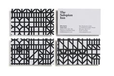 The Salopian Inn business card #geometric #businesscard #identity #stationery