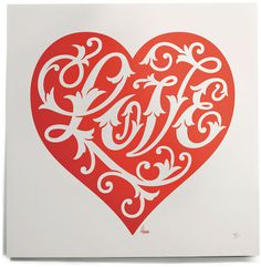Typeverything.com House Industries Love Heart Print. #heart #love