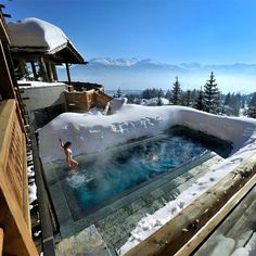 Lecrans Hotel in Switzerland #hotel #switzerland