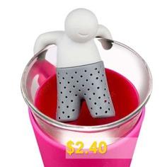 Novel #Teabags #Bathing #Kids #Style #Silicone #Tea #Strainer #Filter #Home #Office #Gadget #- #GRAY