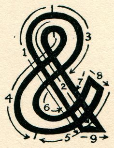 ampersand, symbol, type