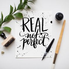 Real Not Perfect – Jenny Highsmith #made #lettering #hand #typography