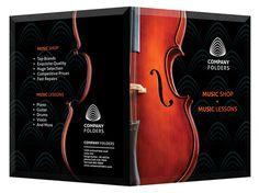Musical Pocket Folder Design Template PSD #template #psd #musical #photoshop #music #folder